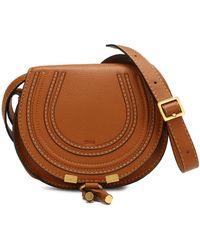 Chloé Marcie Mini Crossbody Bag - Brown