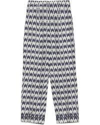 Prada 'chevron' Pants - Blue