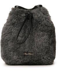 Max Mara Teddy Bucket Bag - Gray