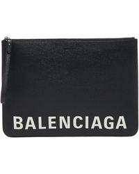 Balenciaga Clutch Logo Black