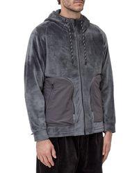 White Mountaineering - Fleece Hooded Jacket - Lyst