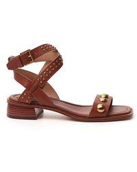 MICHAEL Michael Kors Garner Studded Sandals - Brown