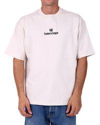 Balenciaga Sponsor Print T-shirt - White