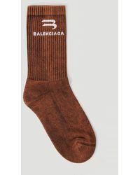 Balenciaga Bleached Tennis Socks - Brown