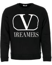 Valentino Vlogo Dreamers Sweatshirt - Black