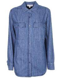 MICHAEL Michael Kors Denim Long-sleeve Shirt - Blue