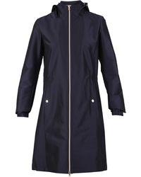Herno Hooded Zip-up Coat - Blue