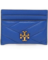 Tory Burch Kira Chevron Cardholder - Blue