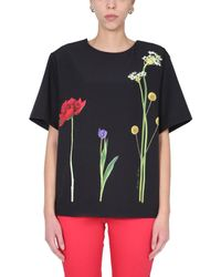 Boutique Moschino Women's 022811391555 Black Other Materials T-shirt