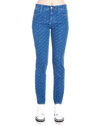 Stella McCartney All Over Logo Jeans - Blue