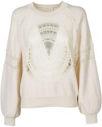 Chloé Embroidered Sweatshirt - Natural