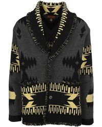 Alanui Geometric Patterned Cardigan - Black