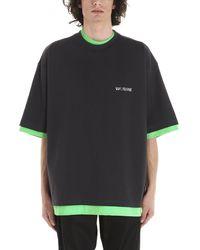 we11done Oversized Reversible T-shirt - Black