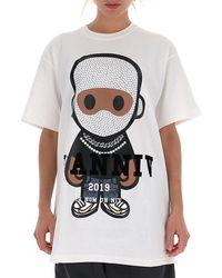 ih nom uh nit Graphic Logo Print Crewneck T-shirt - White