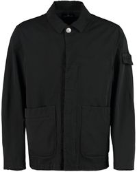 Stone Island Shadow Project Logo Patch Shirt Jacket - Black