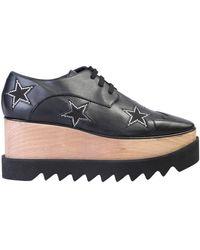 Stella McCartney Elyse Crystal Star Embellished Platform Shoes - Black