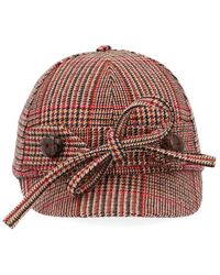 Miu Miu Multicolor Wool Hat - Red