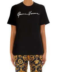 Versace Printed Cotton-jersey T-shirt - Black