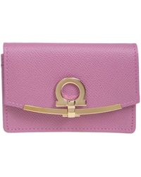 Ferragamo Gancini Card Case - Pink