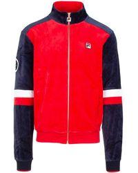 Fila Panelled Logo Zip-up Jacket - Red