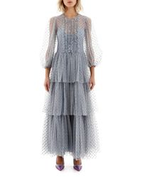 RED Valentino Glitter Polka Dot Dress - Blue