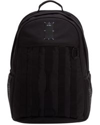 McQ Logo Patch Strap Detailed Backpack - Black