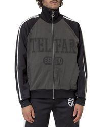 Telfar Raglan Zipped Sweatshirt - Black