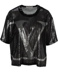 Valentino Vlogo Signature Jersey T-shirt - Black