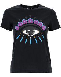 KENZO Eye Print T-shirt - Black