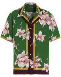 Valentino Floral Print Bowling Shirt - Green