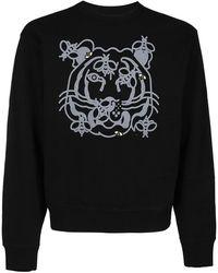 KENZO Bee A Tiger Print Sweatshirt - Black