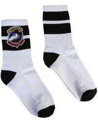 Moschino Mickey Patch Socks - White