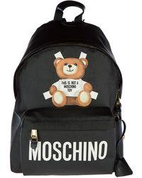Moschino Teddy Bear Detail Backpack - Black