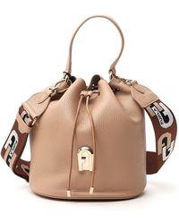 Furla Sleek Small Bucket Bag - Natural