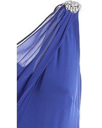 Lauren by Ralph Lauren Rhinestone Detail Long Dress - Blue