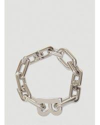 Balenciaga B Chain Thin Bracelet - Metallic