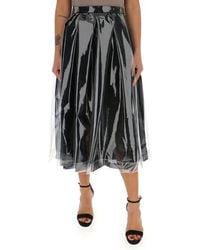 Comme des Garçons Layered Midi Skirt - Black