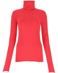 Bottega Veneta Turtleneck Long-sleeve Top - Pink