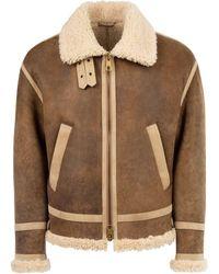 Neil Barrett Aviator Zipped Jacket - Brown