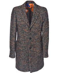 Etro Herringbone Single-breasted Coat - Multicolour