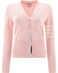 Thom Browne X Colette Hector 4-bar Cardigan - Pink