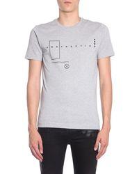Diesel Black Gold Printed T-shirt - Grey
