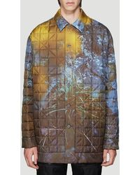 OAMC Printed Quilted Coat - Blue