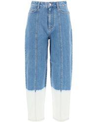 Stella McCartney Faded Dip Effect Jeans - Blue