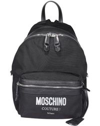 Moschino Couture Plaque Backpack - Black
