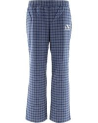 Rassvet (PACCBET) Tartan Trousers With Embroidery - Blue