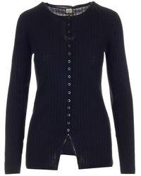 Totême Marcersized Ribbed Knit Cardigan - Black