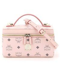 MCM Visetos Vanity Case - Pink