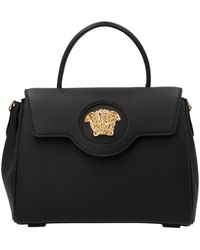 Versace Medusa Plaque Tote Bag - Black