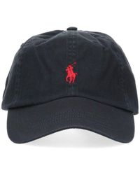 Polo Ralph Lauren Logo Embroidered Baseball Cap - Black